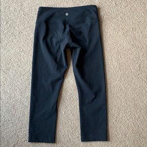 Lululemon Wunder Under crop leggings sz 4 black
